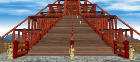9古代出雲大社神殿正面3