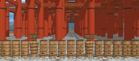 10円筒埴輪と列柱
