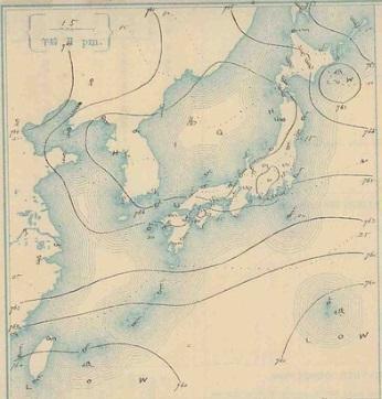 19071015天気図