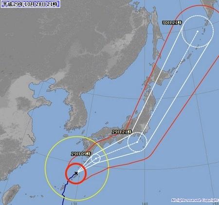 2017102821台風進路予想図