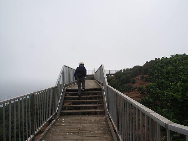 赤岩展望台への道