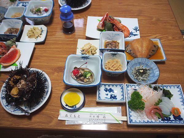 夕食@民宿竹内