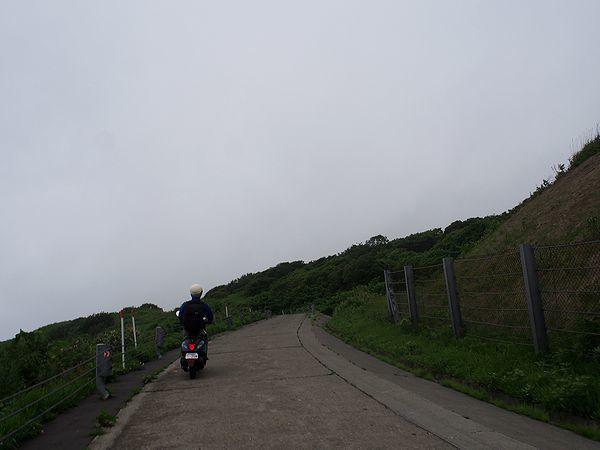赤岩展望台への急坂