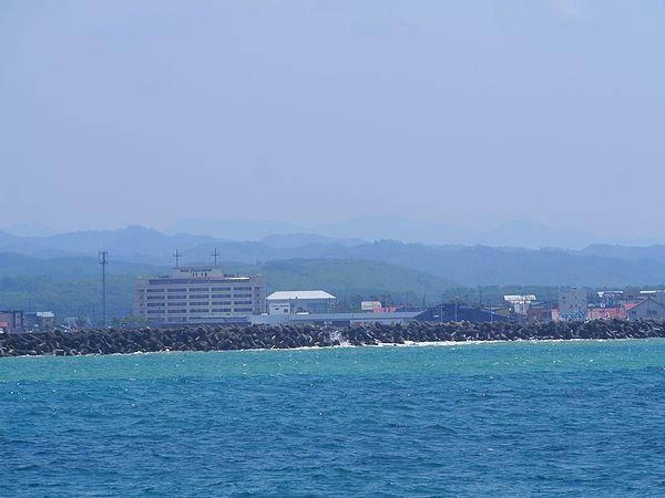 羽幌港接近