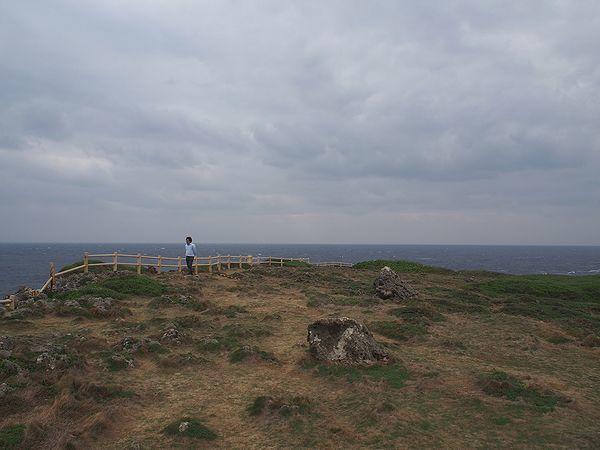 東平安名崎の突端