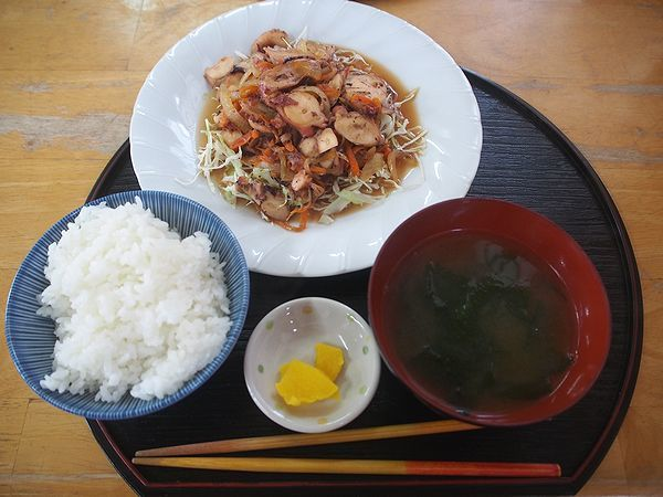 タコ炒め定食@お食事処すむばり