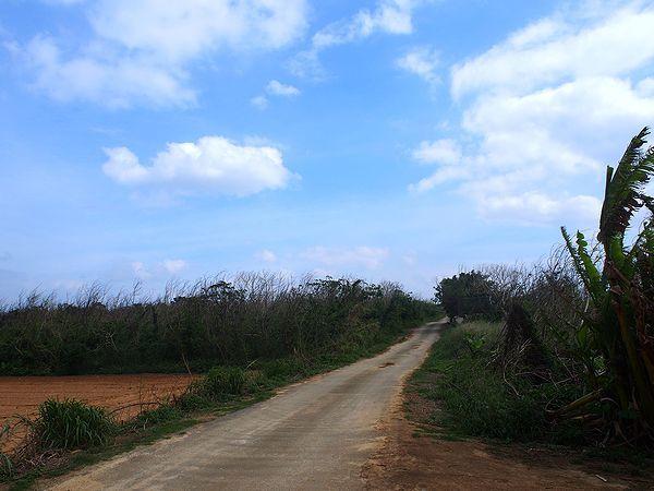 長間浜への道