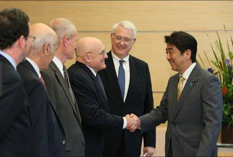 20171222安倍晋三首相とアミテージらCSIS幹部