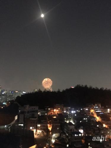 韓国で花火大会と言えば寒くなったころ。