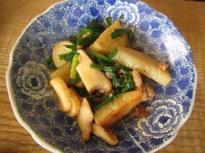 長いもとエリンギの炒め物