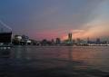 横浜市街地の夕焼け