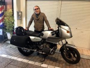 シャークさんとバイク