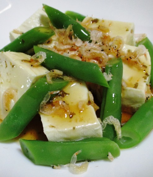 豆腐とインゲン B