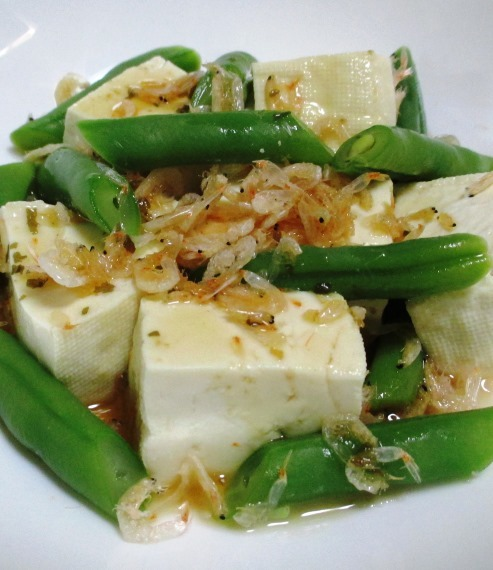 豆腐とインゲン 大