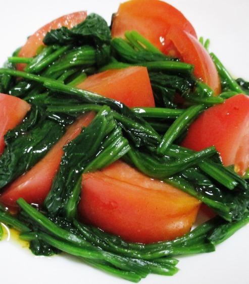 ほうれん草とトマト 大