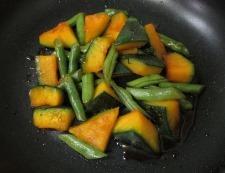 かぼちゃインゲン 調理⑥