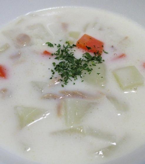 ツナと野菜のチャウダースープ 大