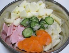 リンゴサラダ 調理②