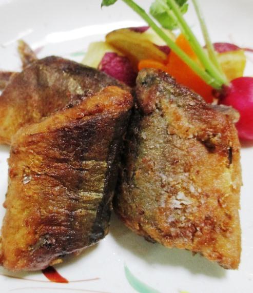 秋刀魚の香味揚げ 拡大