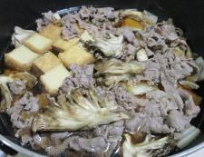 牛肉と舞茸の甘辛煮 調理④