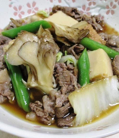 牛肉と舞茸の甘辛煮 拡大
