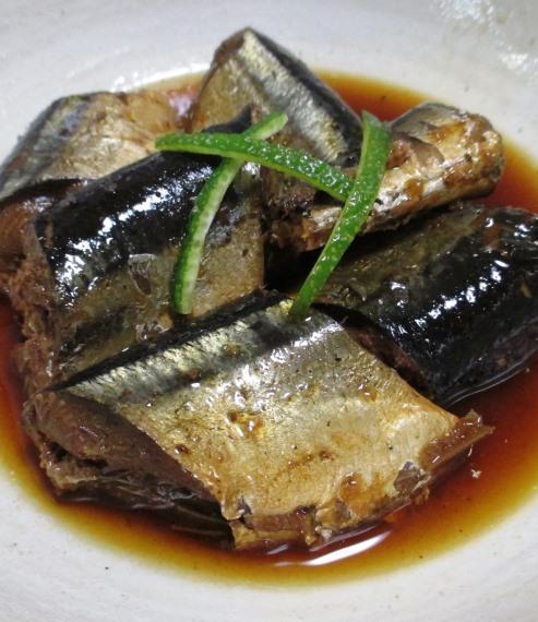 秋刀魚のしょうが煮 B