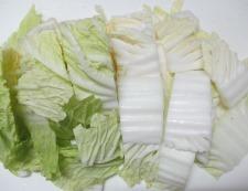 鶏だんごと白菜のうま煮 調理②