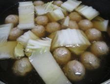 鶏だんごと白菜のうま煮 調理③
