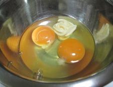 トマトと卵 調理①