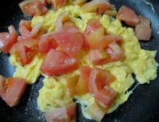 トマトと卵 調理④