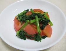 トマト春菊 調理③
