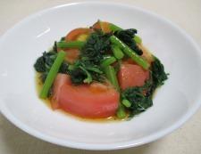 トマト春菊 調理④