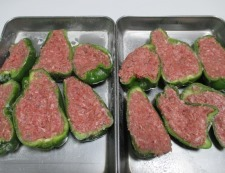 ピーマンの肉詰め 調理③