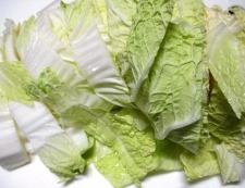 白菜とお揚げ 調理①