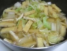 白菜とお揚げ 調理④