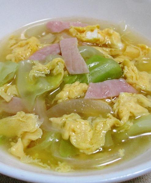 ハムキャベツスープ B
