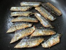 サンマの七味照り焼き 調理④