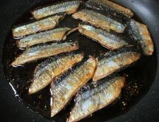 サンマの七味照り焼き 調理⑤