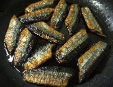 サンマの七味照り焼き 調理⑥