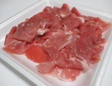 豚こまアスパラ蜂蜜しょうが焼き 材料①