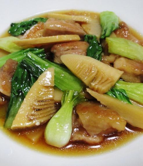 鶏もも肉と青梗菜の煮物 B