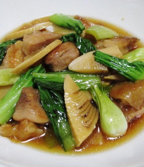 鶏もも肉と青梗菜の煮物 拡大
