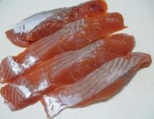 秋鮭の竜田フライ 調理①