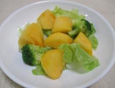 柿とブロッコリー 調理①