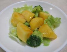 柿とブロッコリー 調理②