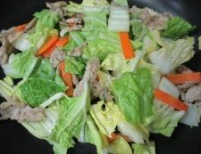 豚こま白菜 調理③
