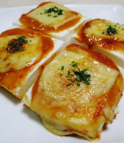 はんぺんのピリ辛オイマヨチーズ焼き 大