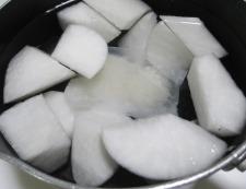 大根とソーセージ 調理②
