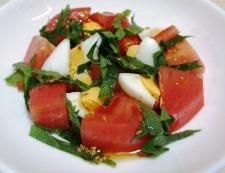 ゆで卵トマト 調理④