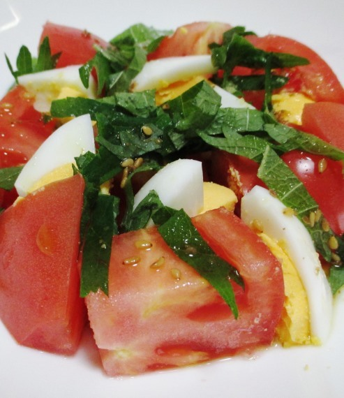 ゆで卵トマト B